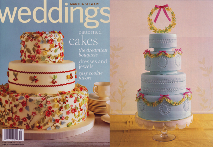 Martha Stewart Weddings Flower Cake Cover and Martha Stewart Weddings Tissue Paper Cake